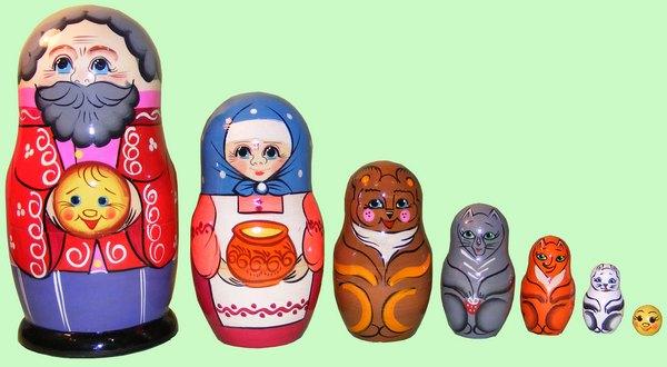 Русская народная игрушка матрешка - картинка 10
